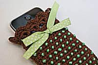 Beaded Crochet Cell Phone Holder