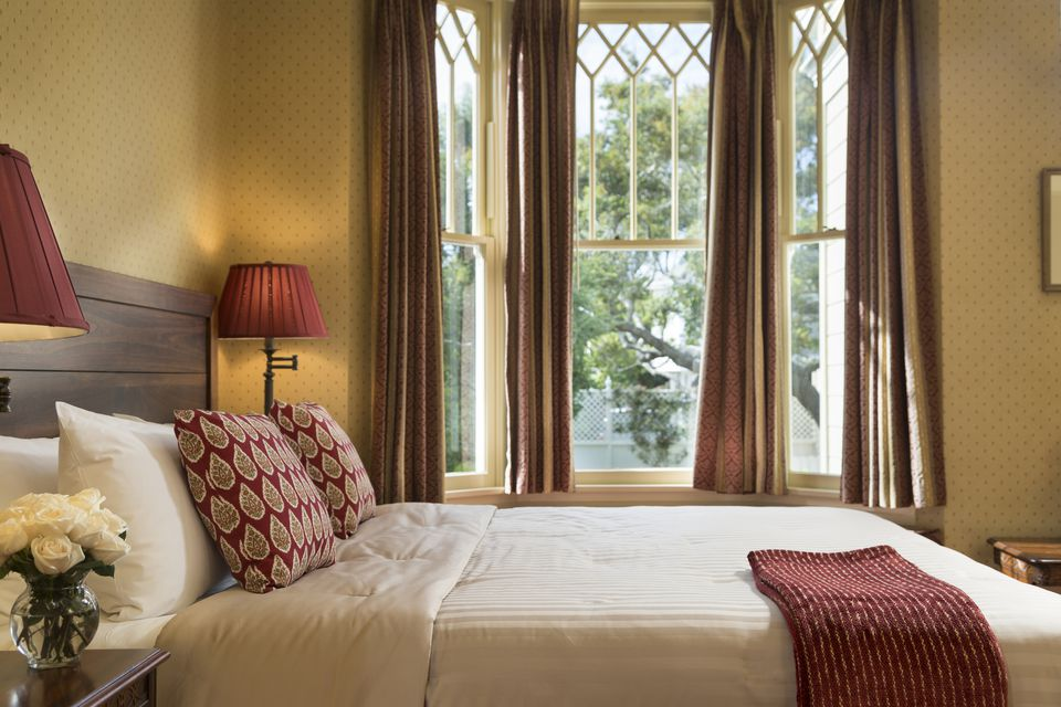 Warm color bedroom decor