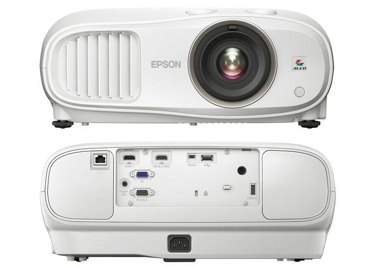 Epson Home Cinema 3900 1080p 3LCD Video Projector - Front/Rear Views