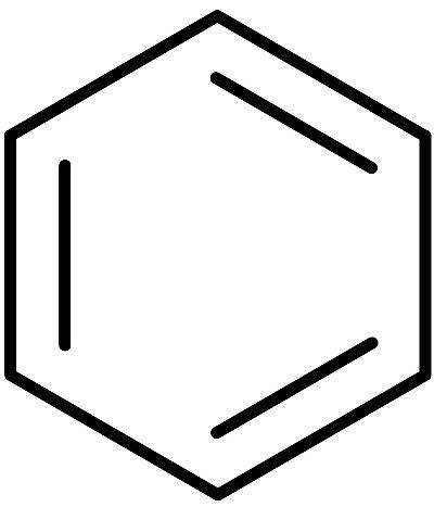 This is the chemical structure of benzene.