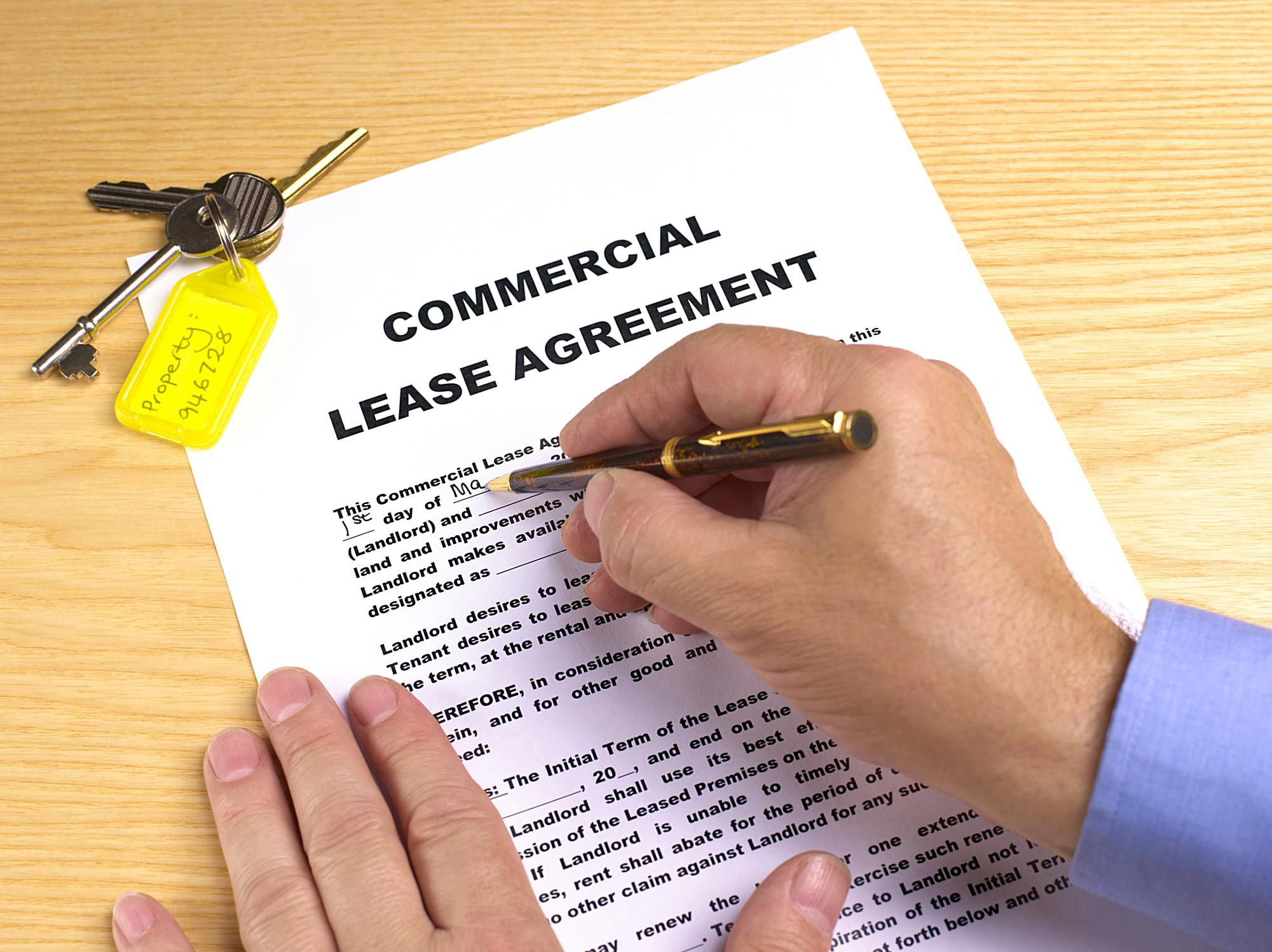 commercial lease document