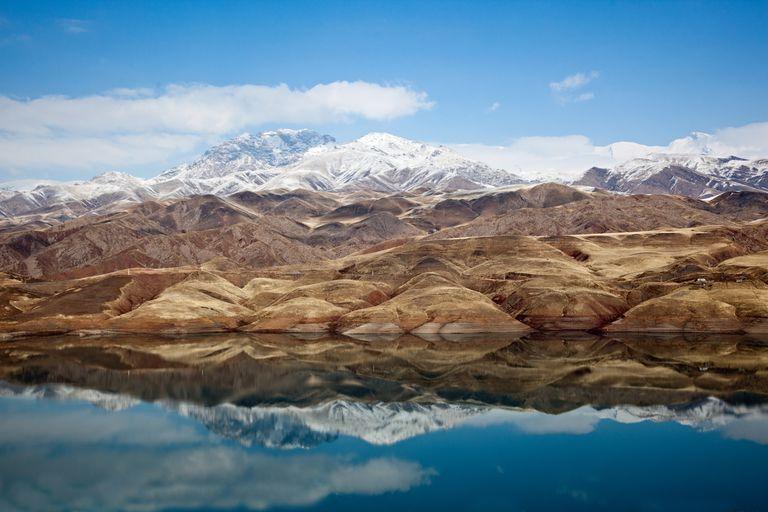 Lake of Taleghan Dam, Iran