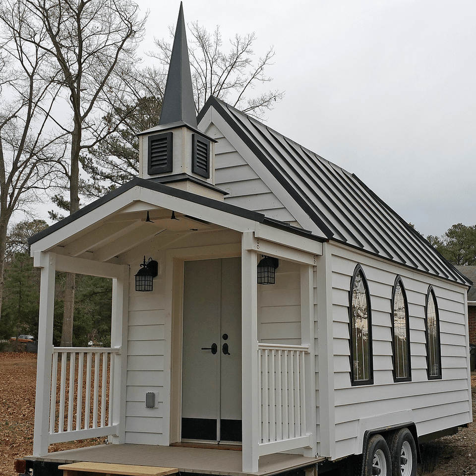 This tiny house chapel is the cutest wedding venue ever for Small chapel floor plans