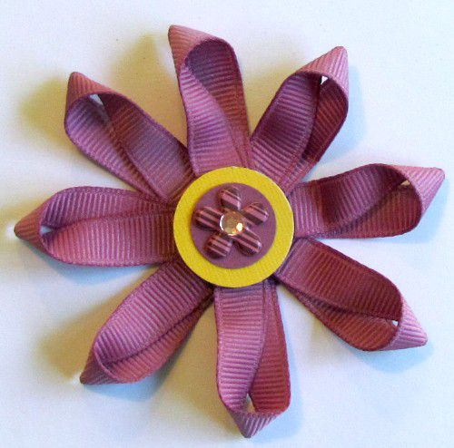 How to Make 3-D Flowers with Ribbon for Scrapbook Pages
