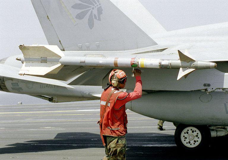 Aviation Ordnanceman Prepares To Arm