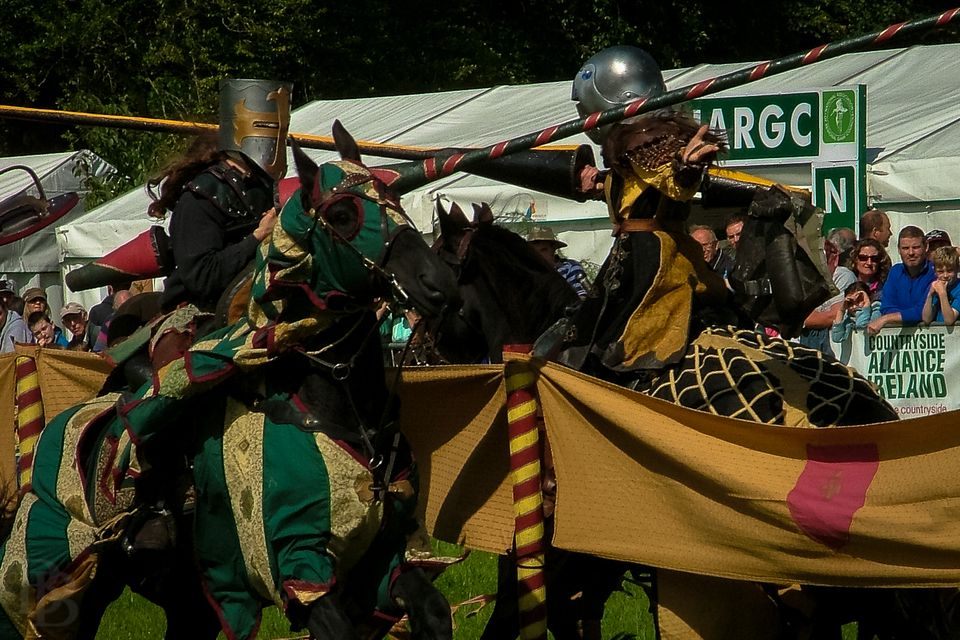 Jousting during the Irish Game & Country Fair at Birr Castle