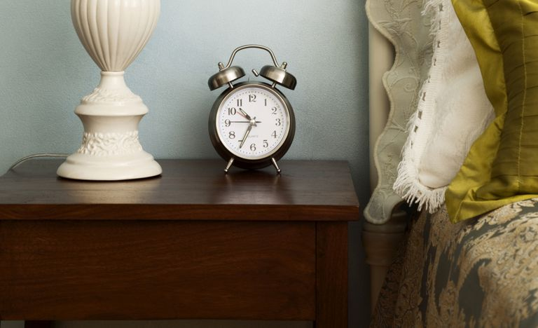 Clock on a nightstand