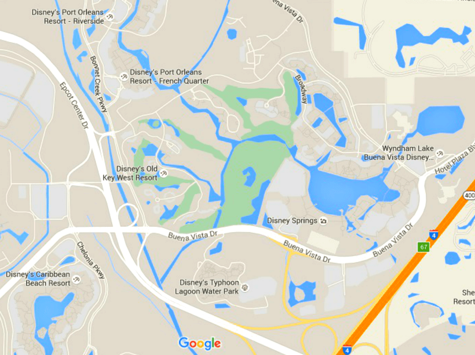 Maps of walt disney worlds parks and resorts disney world resorts near disney springs gumiabroncs Image collections