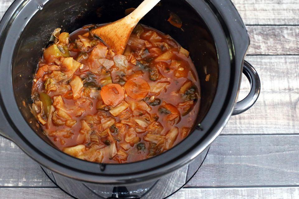 crockpot garden cabbage soup