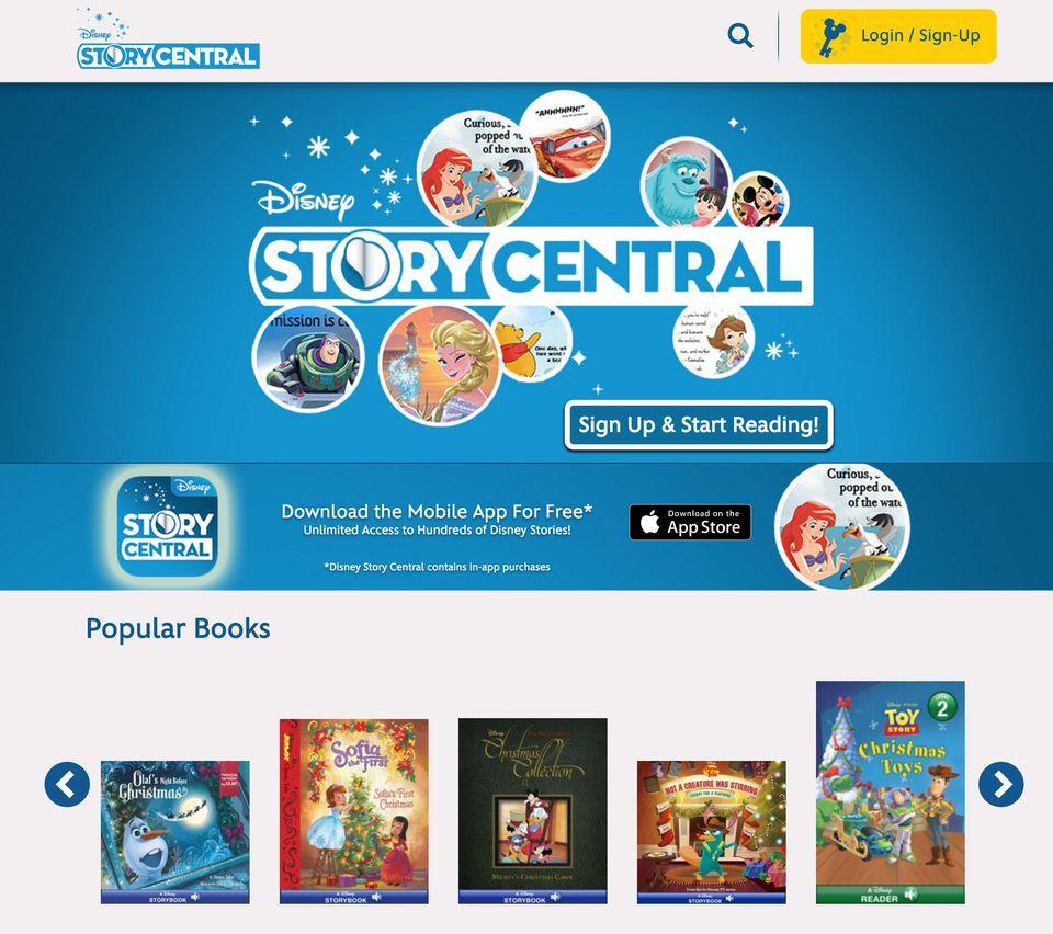 Disney Story Central website