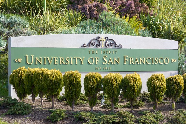 A sign for the University of San Francisco