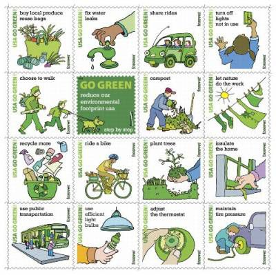 Go Green Forever Stamps