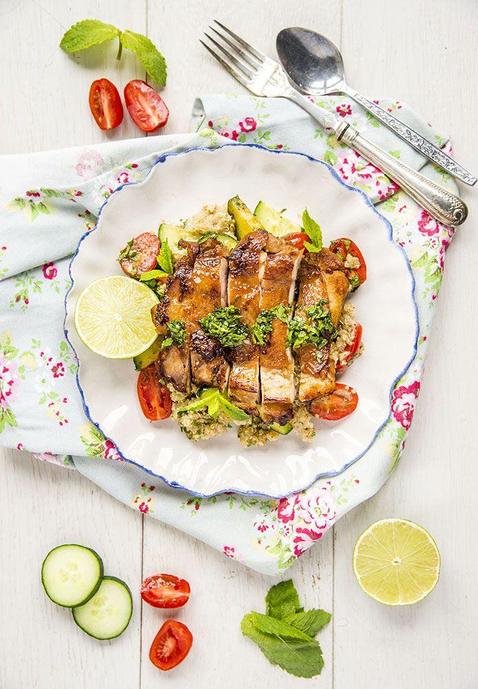 Simple Chinese Garlic Chicken and Quinoa Recipe