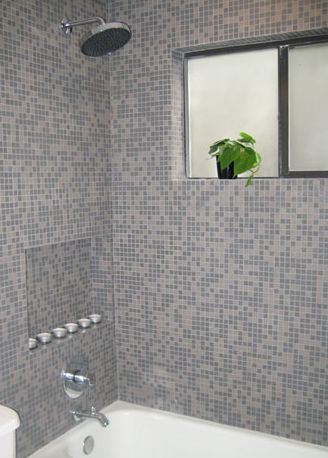 Bathroom Tile Cleaner >> Glass Mosaic Tile Shower Photo Gallery