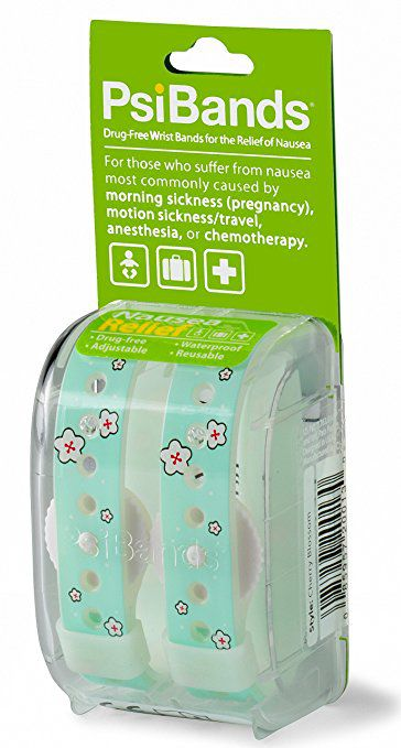 Psi Bands Acupressure Wrist Bands for the Relief of Nausea - Cherry Blossom