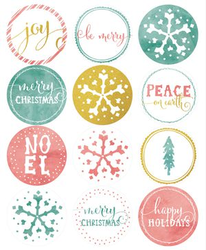 41 sets of free printable christmas gift tags christmas gift tags in a watercolor and glitter style negle Choice Image