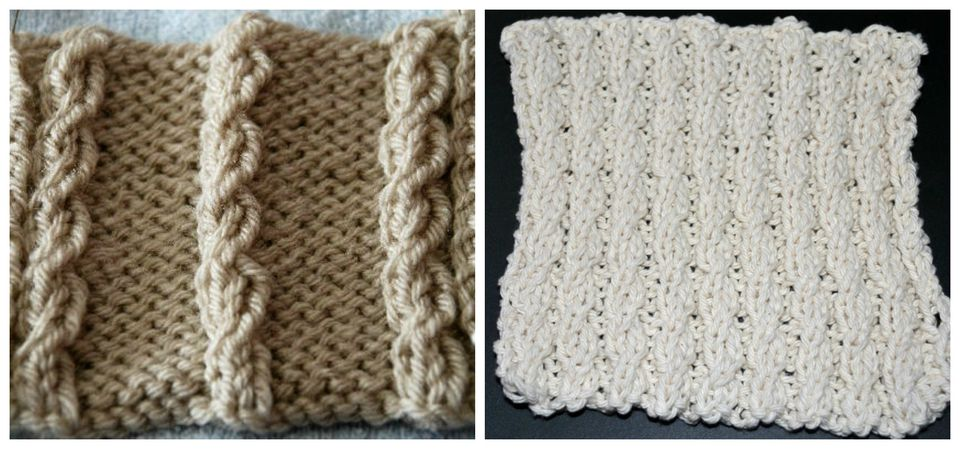 Mock cables are an easy way to get a twisted stitch look without using a cable needle.