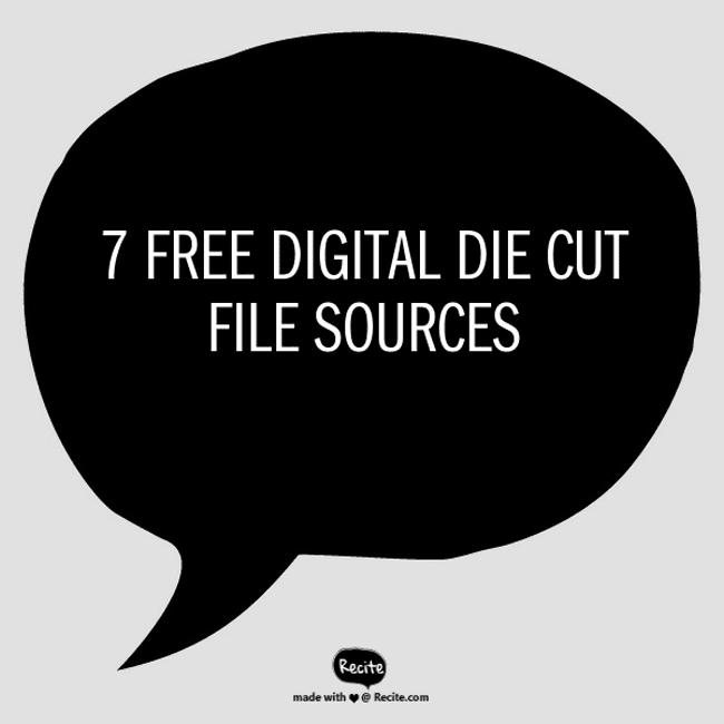 7 free digital die cut files sources