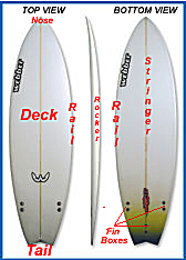 parts of a surfboard
