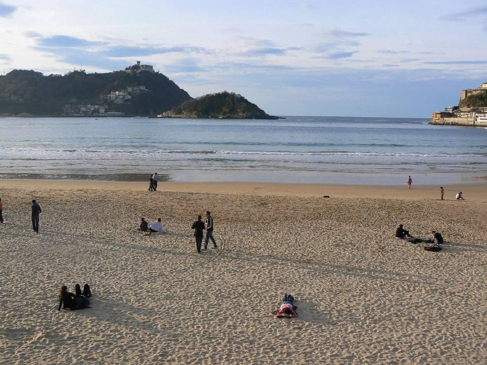 San Sebastian City Beach in Spain