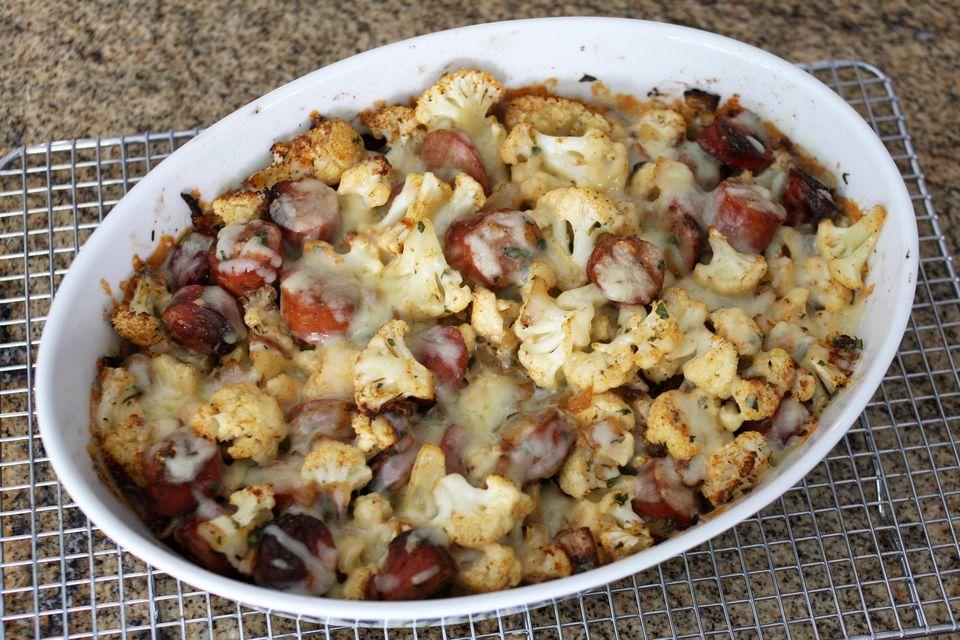 cauliflower and sausage roast
