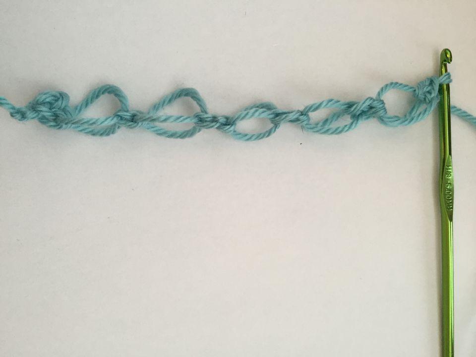 Row of Crochet Love Knots