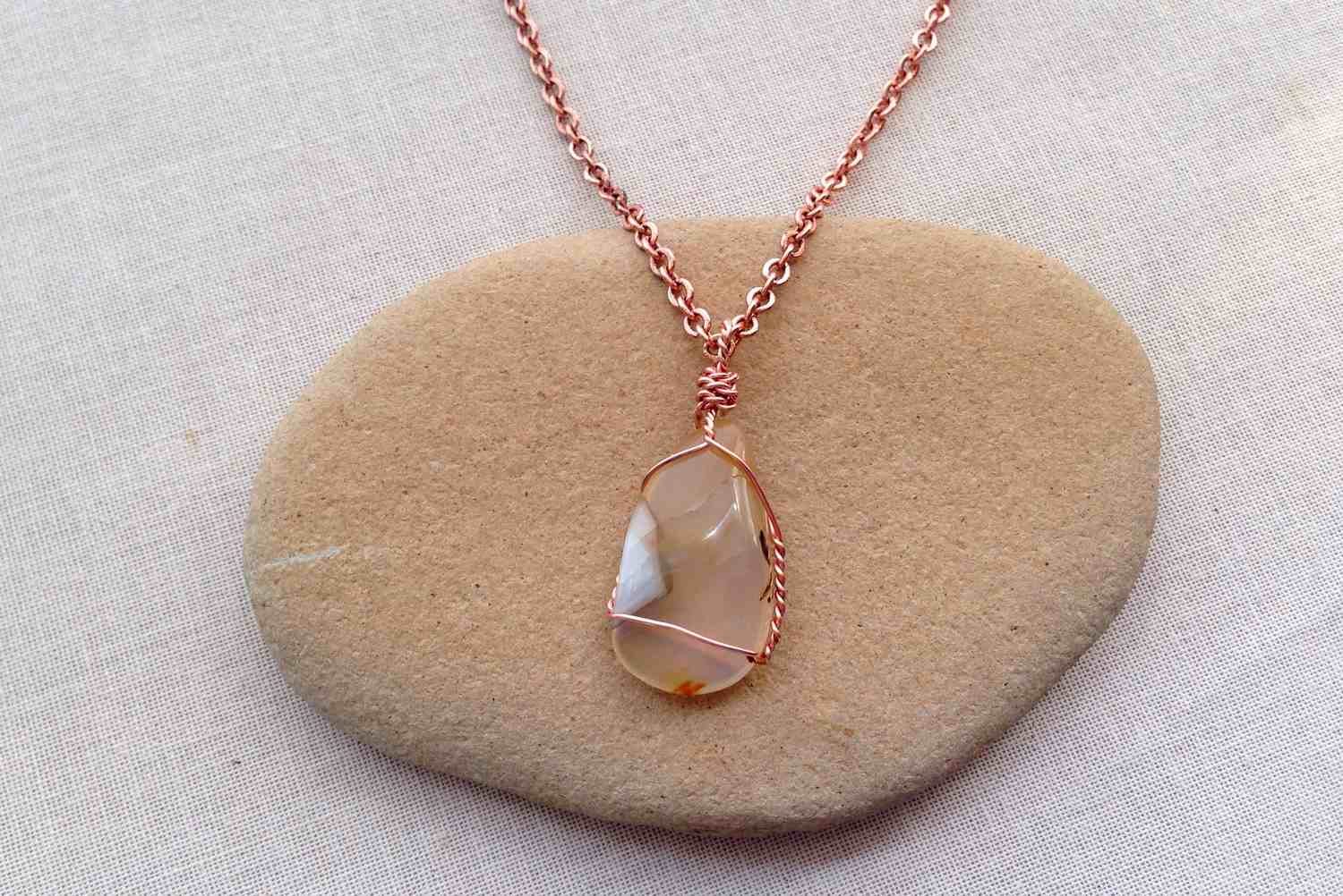 Wrap a Stone, Shell or Beach Glass into a Pendant