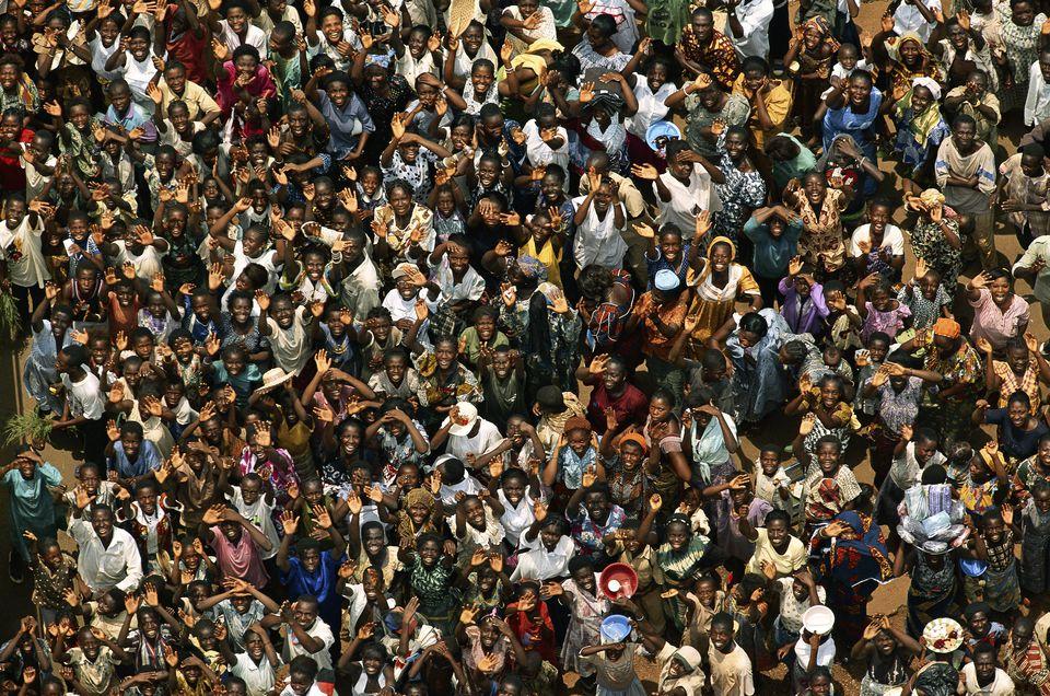Crowd In Abengourou, Ivory Coast