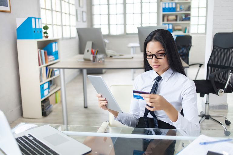 Portrait of asian businesswoman at workplace