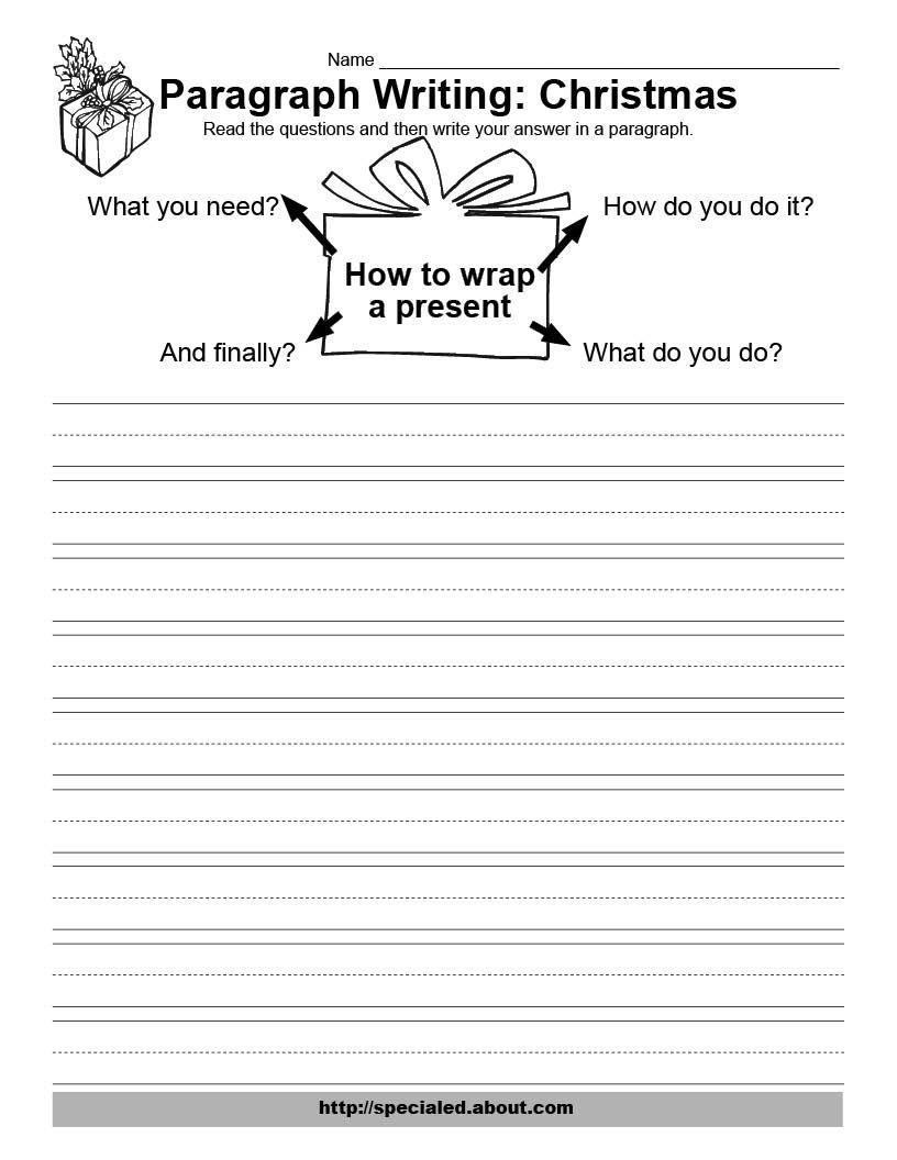 Worksheets Paragraph Writing Worksheets christmas writing activities