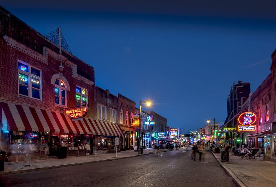 Tennessee, Beale Street at twilight
