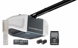 Chamberlain WD962KEV Garage Door Opener, ¾ HPS, Battery Backup When Power Goes Out, Ultra-Quiet Belt Drive Operation, MyQ Smartphone Control Enabled (Internet Gateway Sold Separately), Includes 2-3 Button Remotes, Keyless Entry Keypad, Multi-Function Wall Control Panel