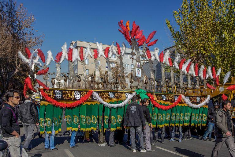 Ashura procession in Tehran, Iran