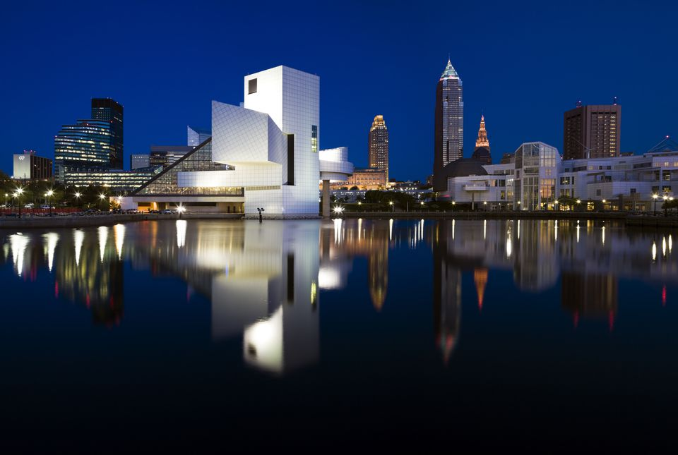 A skyline view of Cleveland.