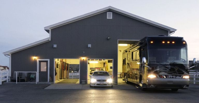 A large storage facility for cars