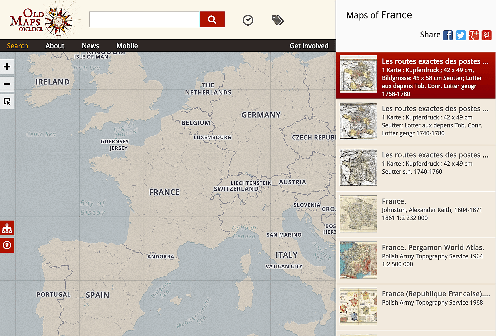Dont Miss Historical Map Collections Online - Topographical map us of 1804