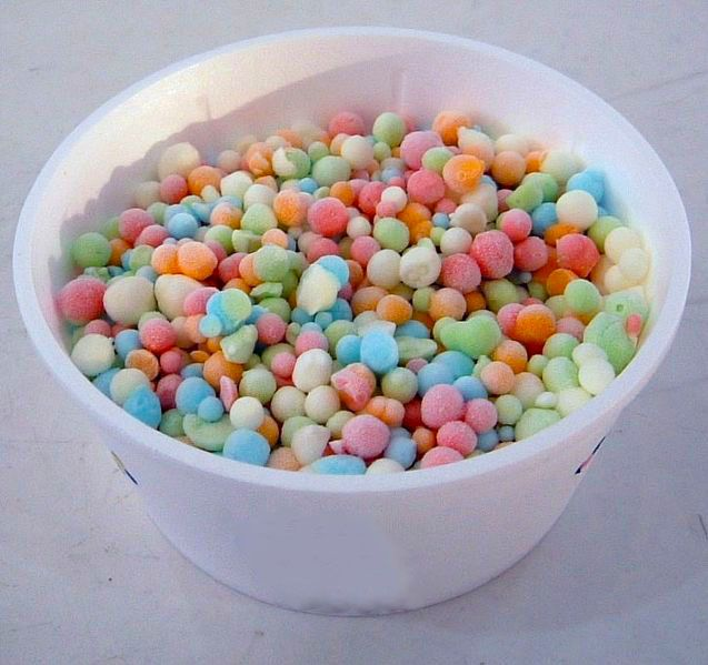 Dippin' Dots Ice Cream is made by cryogenically freezing ice cream into little balls.