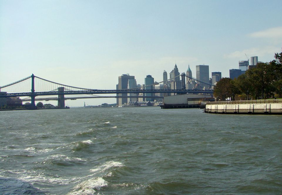The southern tip of Manhattan boasts an iconic skyline.