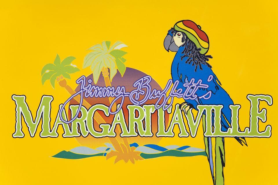 Margaritaville pub sign on the Hip Strip.