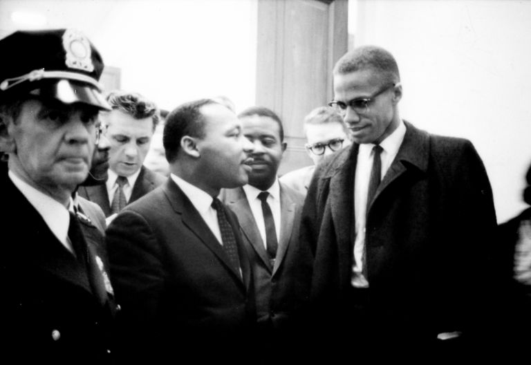 Malcolm X and Martin Luther King Jr. meet in 1964