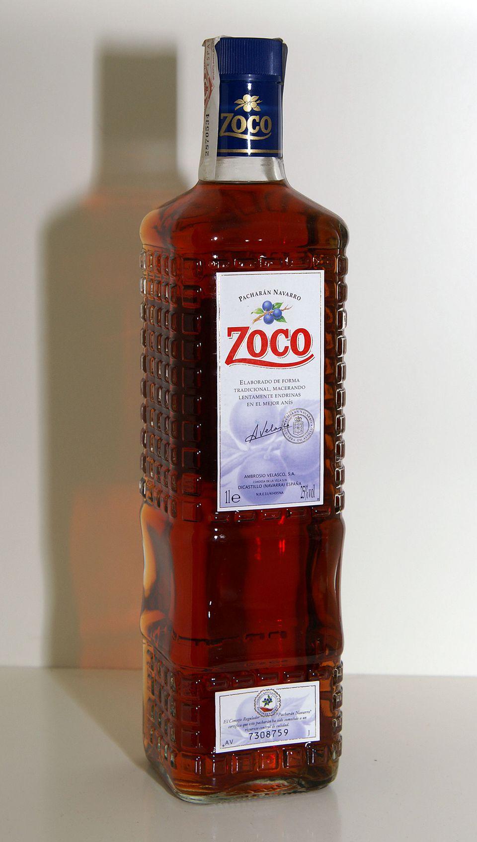 Zoco brand of Pacharan