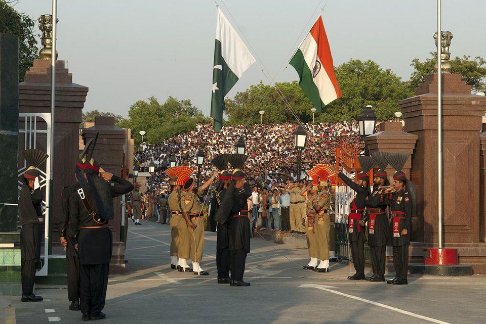 Wagah border ceremony, Wagah, Pakistan