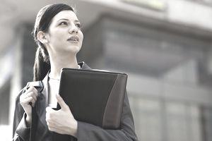 Businesswoman with a portfolio