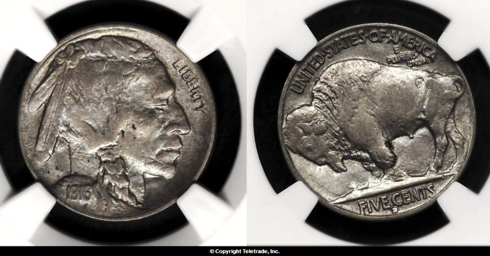 Buffalo Nickel Graded About Uncirculated-55 (AU55)