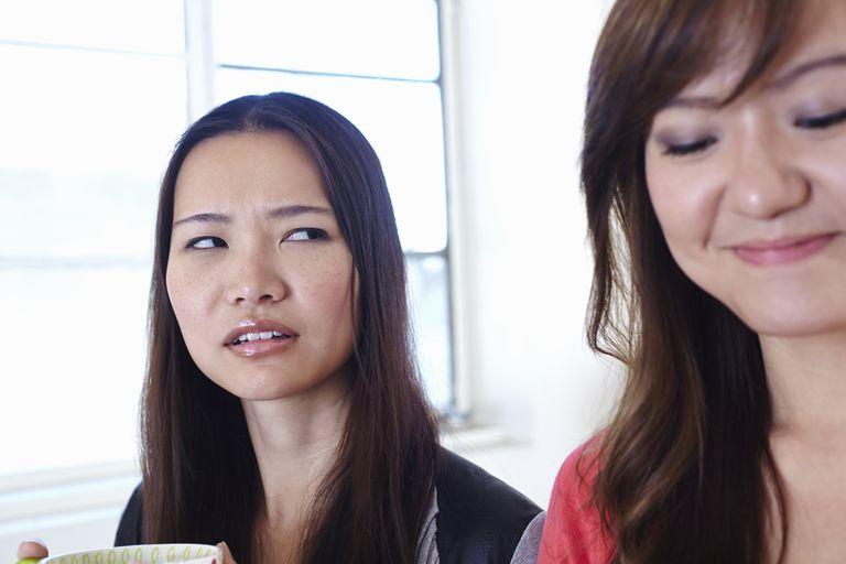 Two women having a disagreement