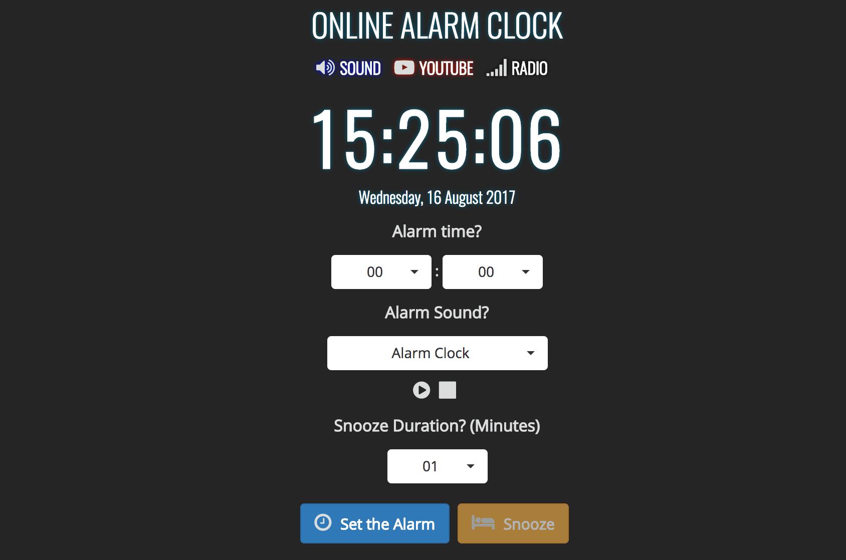 8 free online alarm clocks sciox Choice Image