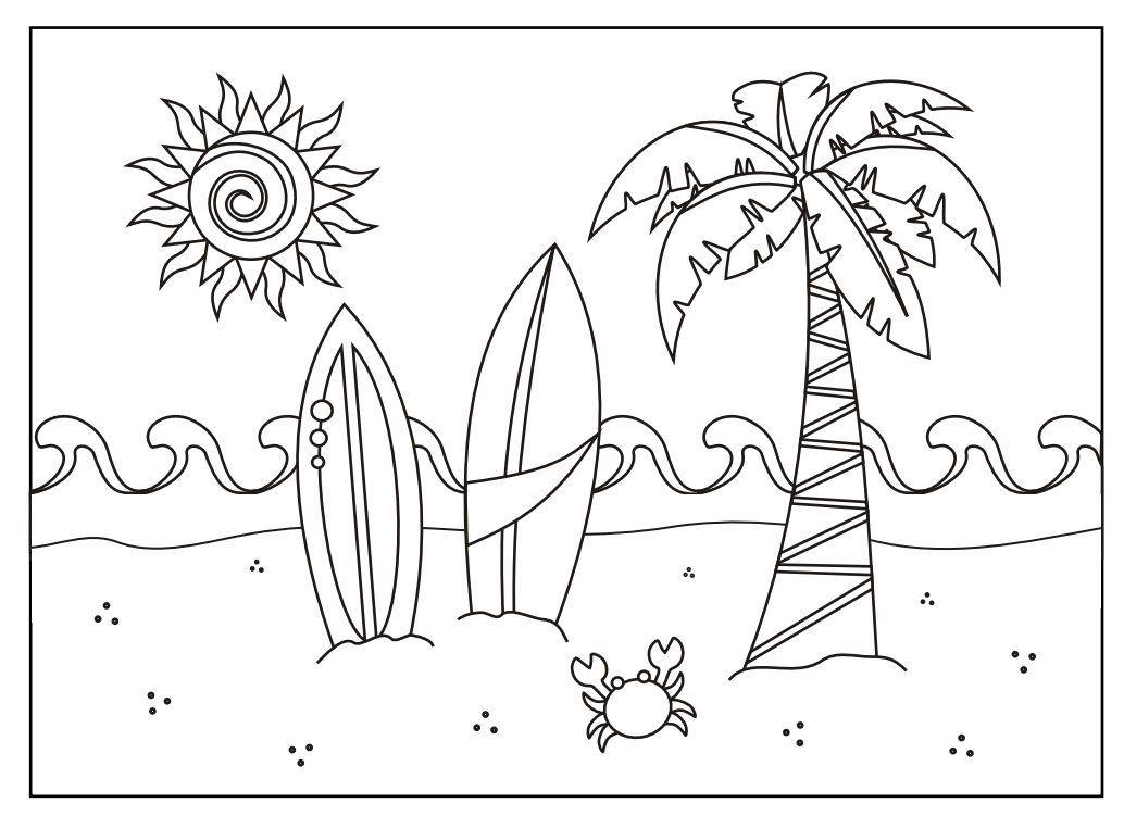243 summer coloring pages for kids - Summer Pictures To Color