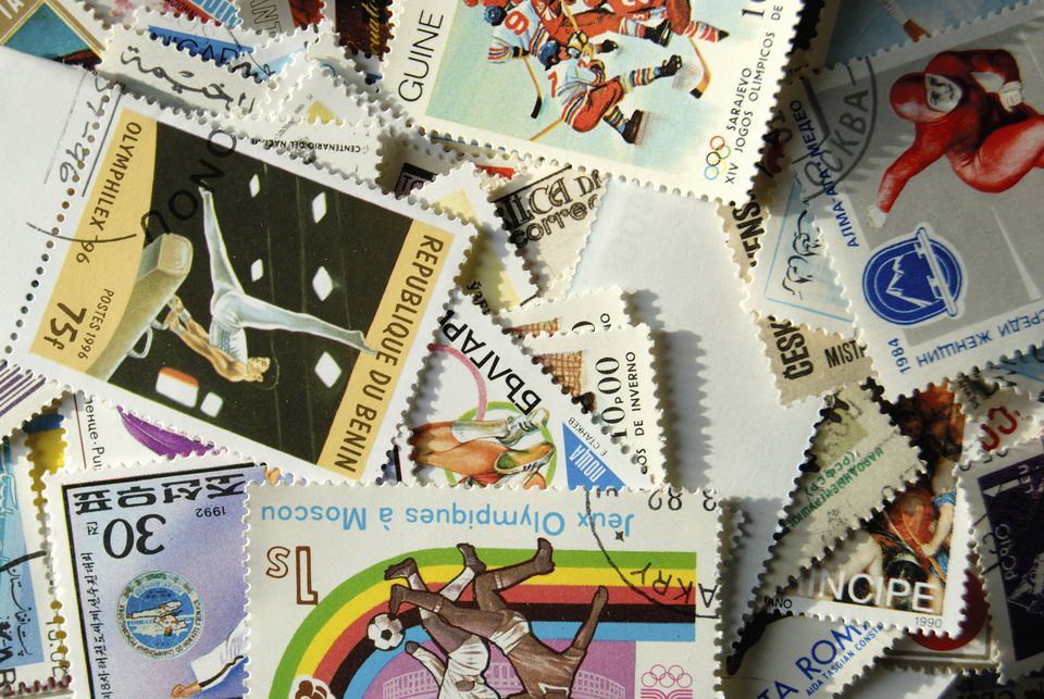 Postage stamps from a number of countries.