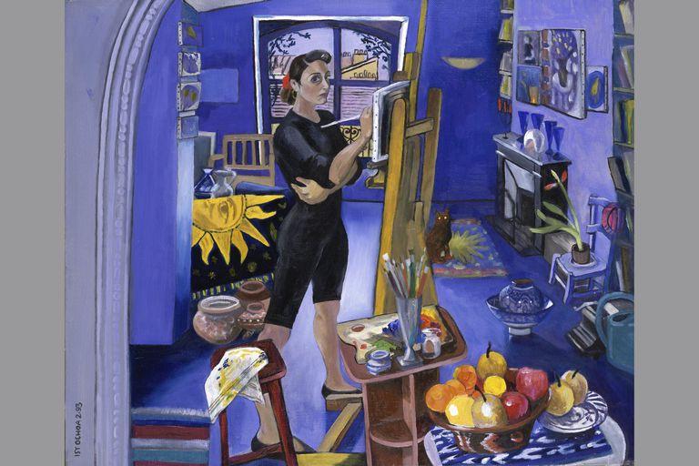 Self Portrait In The Studio by Isy Ochoa, oil on canvas