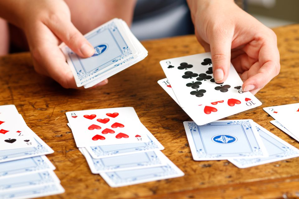 Solitaire card games using a standard 52 card deck for Table 52 cards